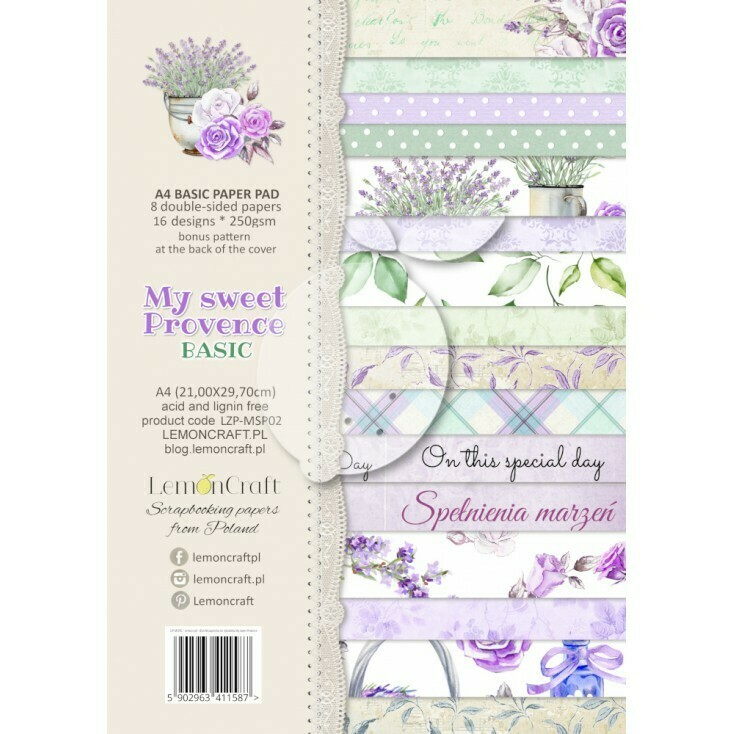 My Sweet Provence - A4 Basic Paper Pad