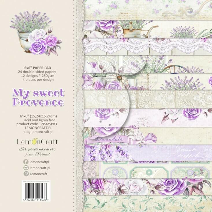 My Sweet Provence 6x6 Paper Pad