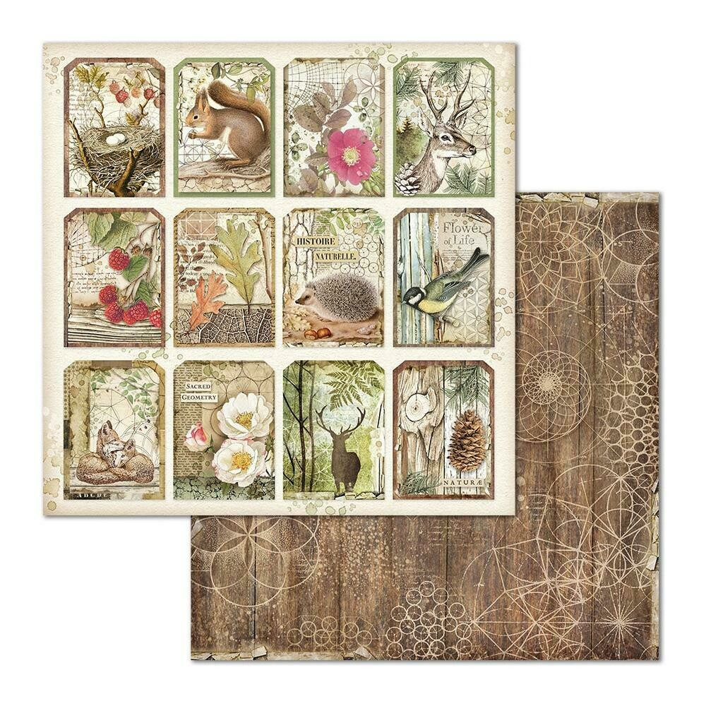 STAMPERIA FOREST 12x12 SINGLE SHEET - TAGS
