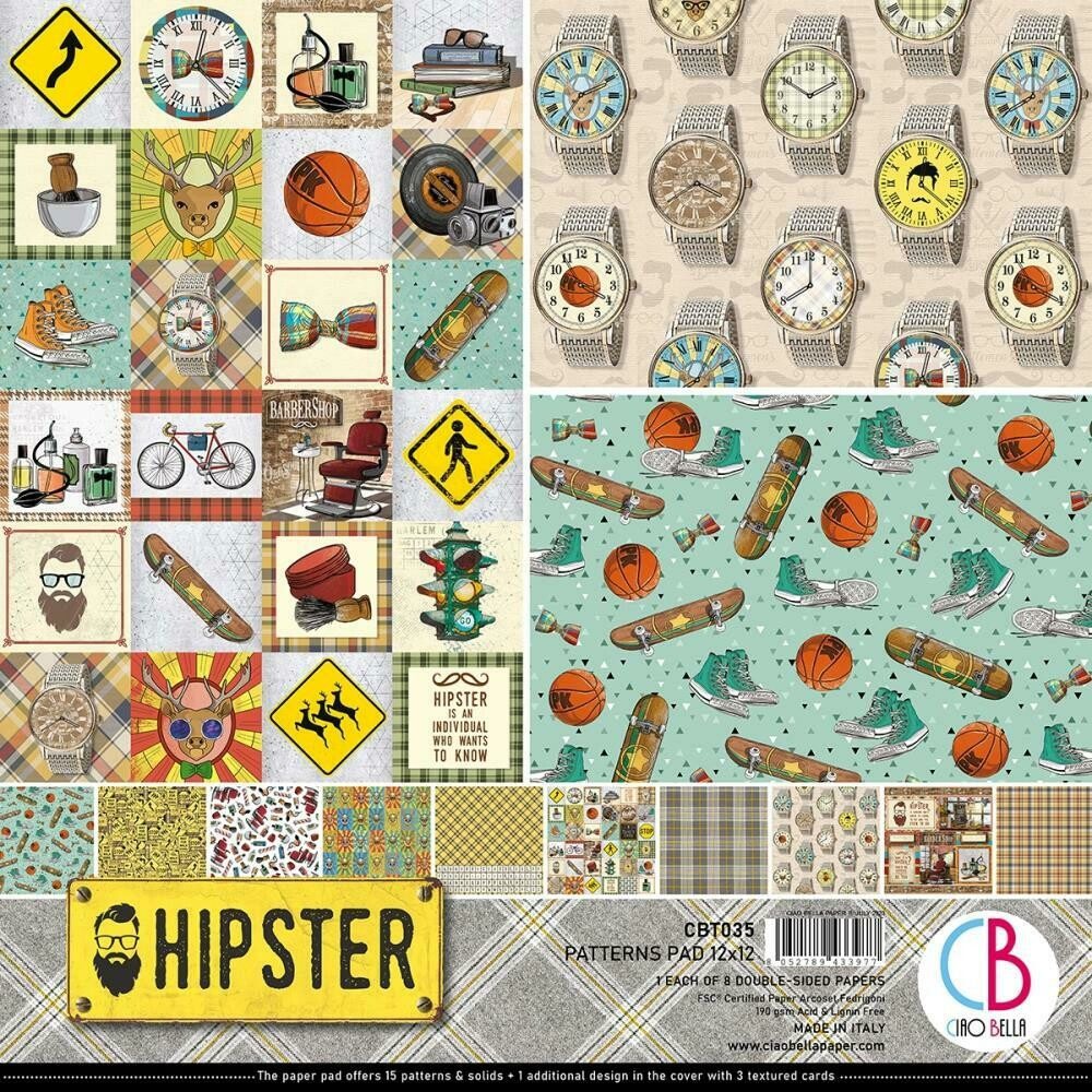 Ciao Bella HIPSTER 12x12 Paper Pad
