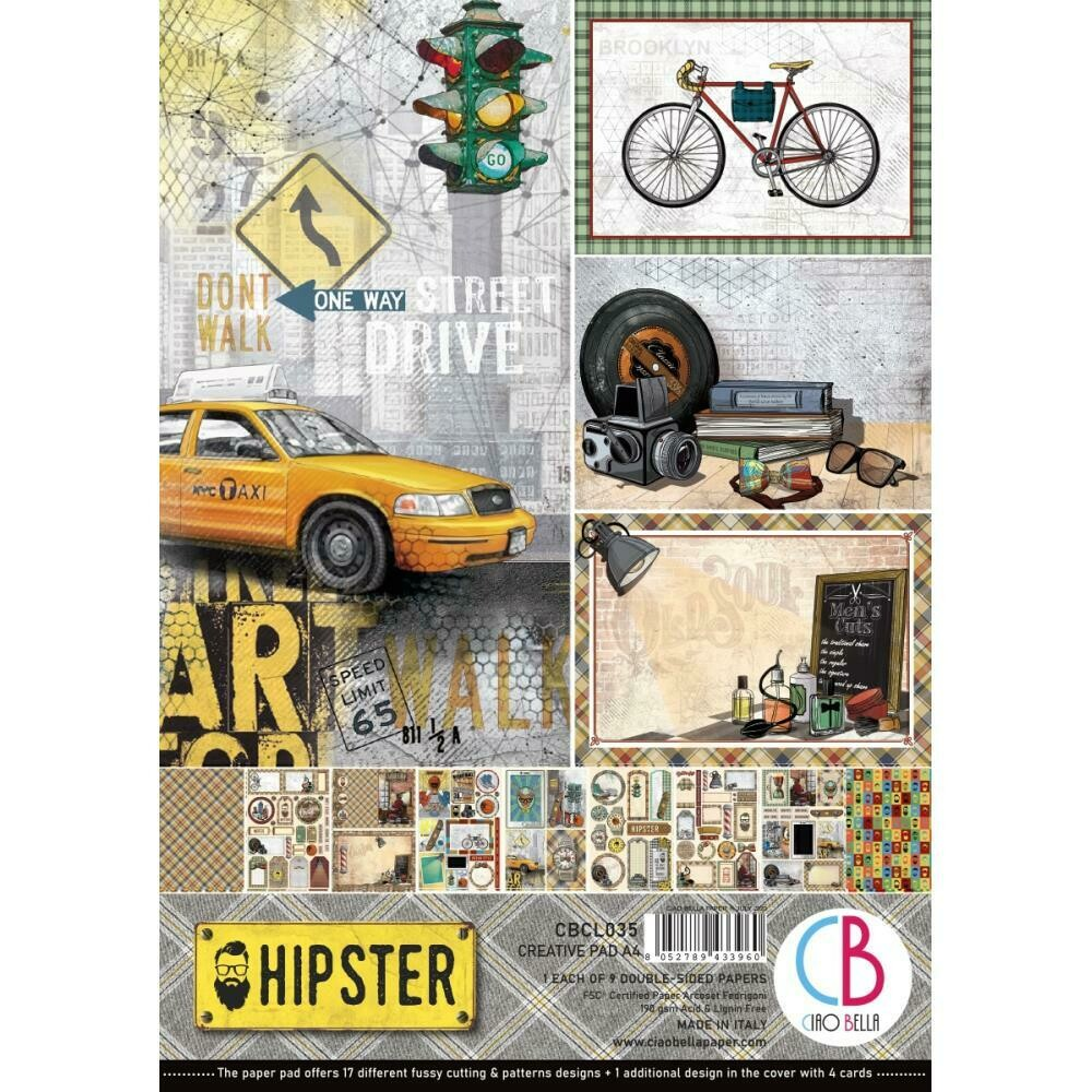 Ciao Bella HIPSTER A4 Paper Pack