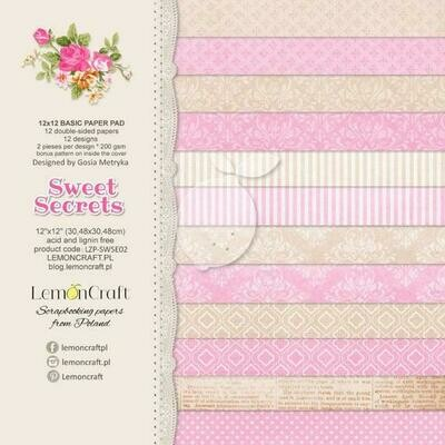 Sweet Secrets 12x12 Basic Paper Pad