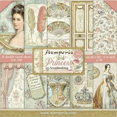 STAMPERIA PRINCESS 8x8 PAD