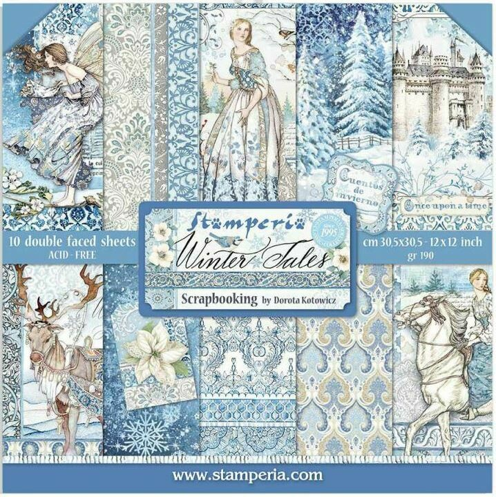 STAMPERIA WINTER TALES 12X12 Paper Set