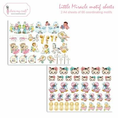 Dress My Craft - LITTLE MIRACLE Motif Sheets