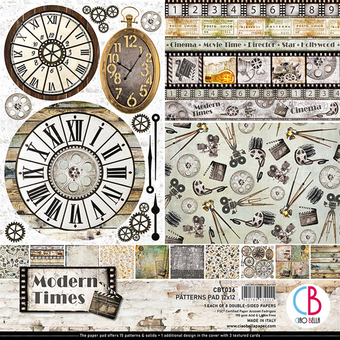 Ciao Bella MODERN TIMES 12x12 Patterns Pad
