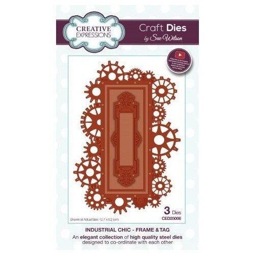 Creative Expressions - Frame & Tag die set - Industrial Chic