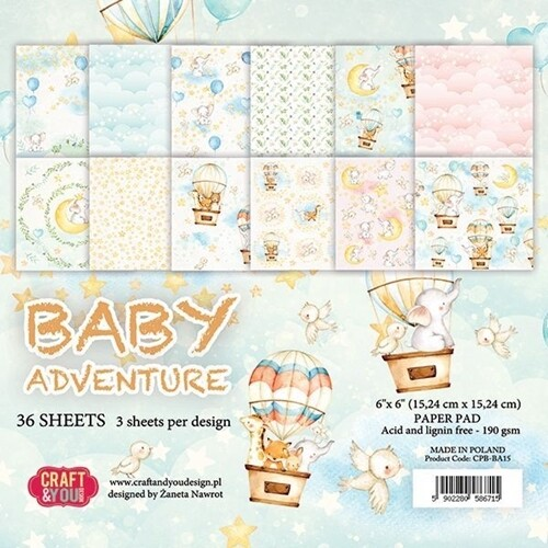 Baby Adventure 6x6 paper pack