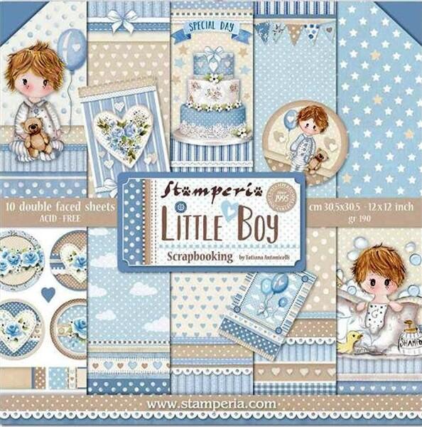 STAMPERIA LITTLE BOY 12X12 Paper Set