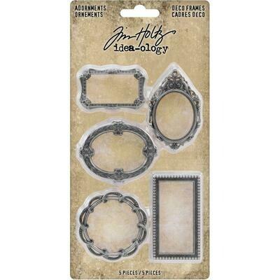Tim Holtz Idea-Ology Metal Deco Frames - 5/pkg