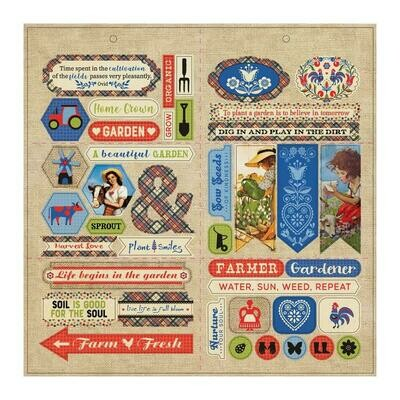 AUTHENTIQUE - CULTIVATE  Double-sided Die Cut Sheet