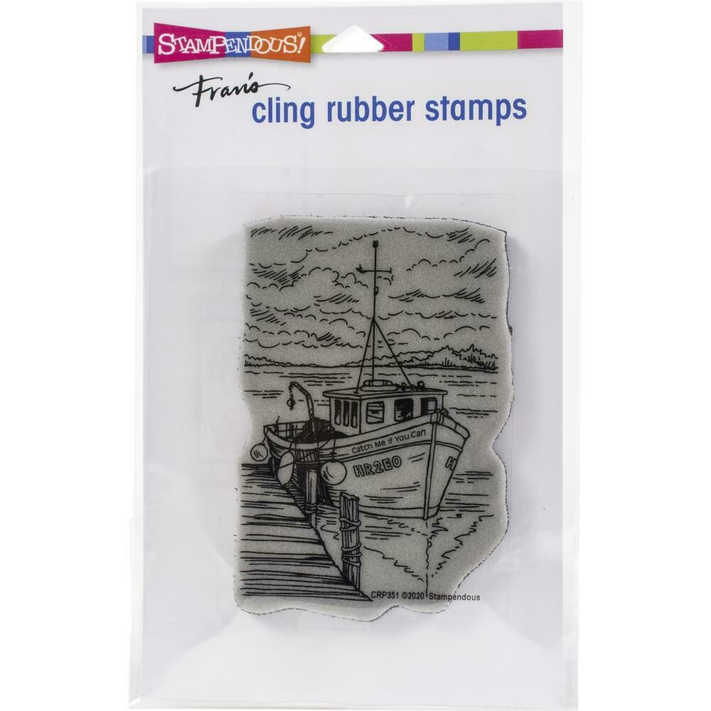 BOAT DOCKING  Cling Rubber Stamp