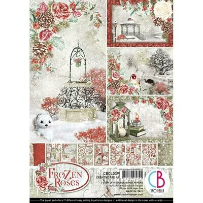 Ciao Bella FROZEN ROSES A4 Paper Pack