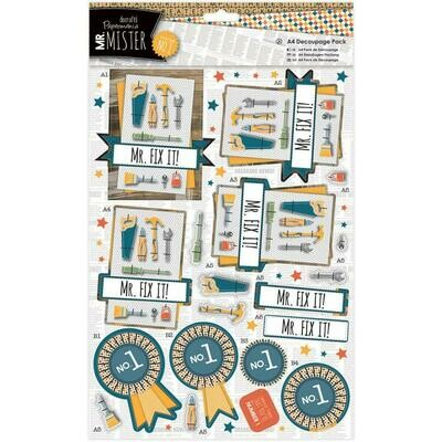 PAPERMANIA  Mr Mister A4 Decoupage pack