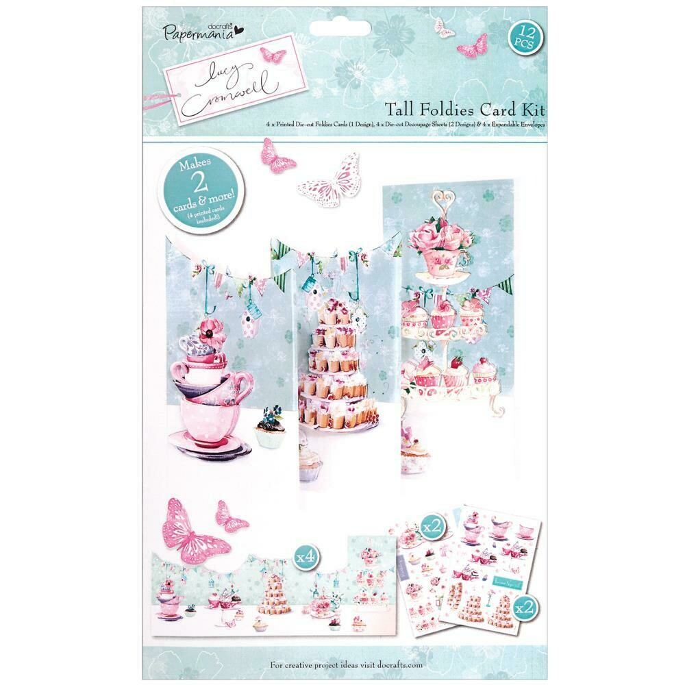 PAPERMANIA Lucy Cromwell Tall Foldies Decoupage Card Kit