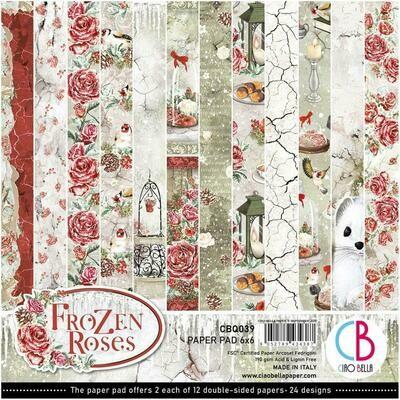 Ciao Bella FROZEN ROSES 6x6 Paper Pad