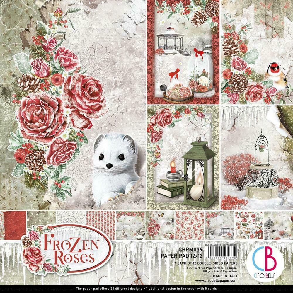 Ciao Bella FROZEN ROSES 12X12 Paper Pad