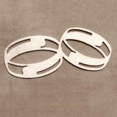 Wedding Rings chipboard