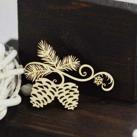 Pinecones with a Snowflake
