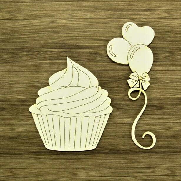 Three Balloons & A Cupcake