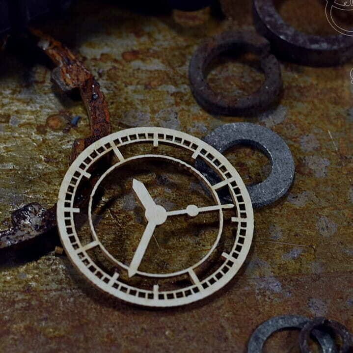 Small Industrial Clock