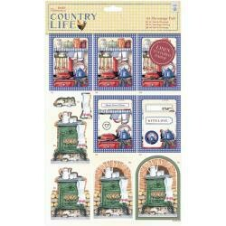 Papermania Country Life A4 Decoupage Pack Country Kitchen, Linen Finish