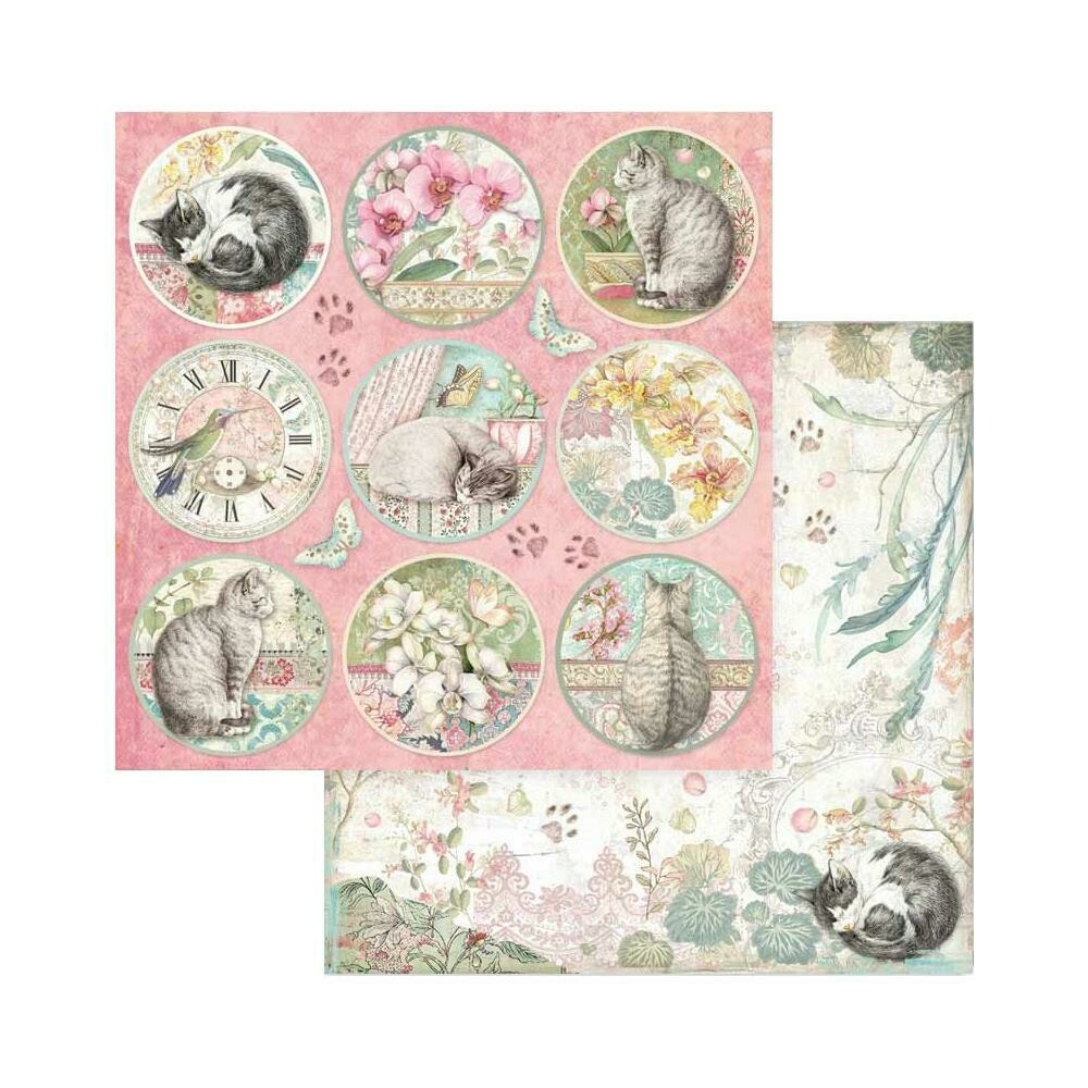 STAMPERIA ORCHID ROUNDS Single Sheet