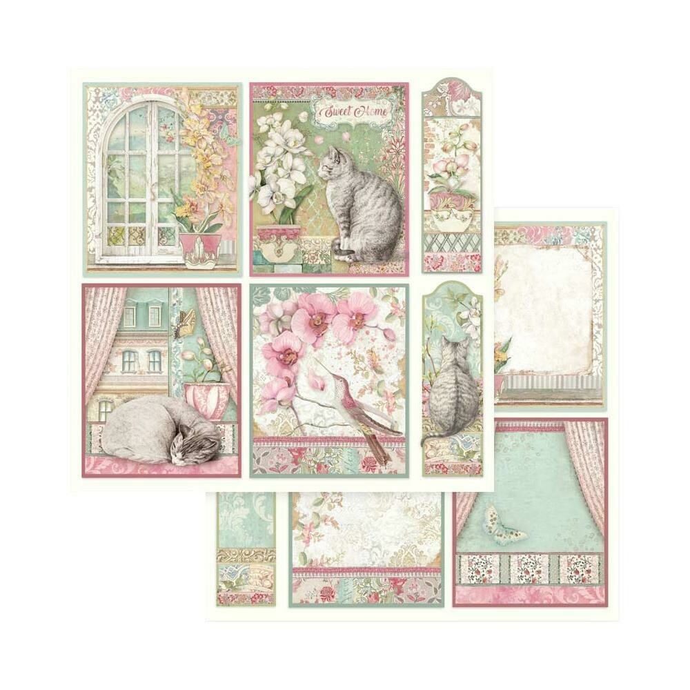 STAMPERIA ORCHIDS CARDS Single Sheet