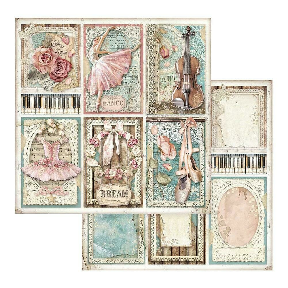 STAMPERIA PASSION - CARDS 12X12 Single Sheet