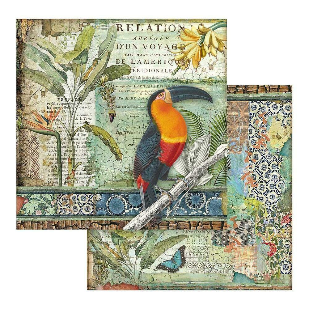 STAMPERIA AMAZONIA - TOUCAN 12X12 Single Sheet