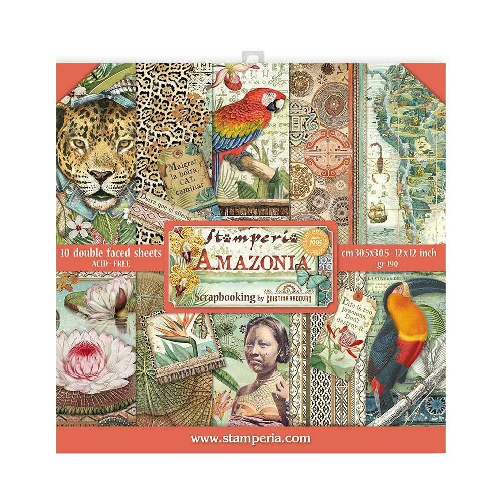 STAMPERIA AMAZONIA 12X12 Paper Set