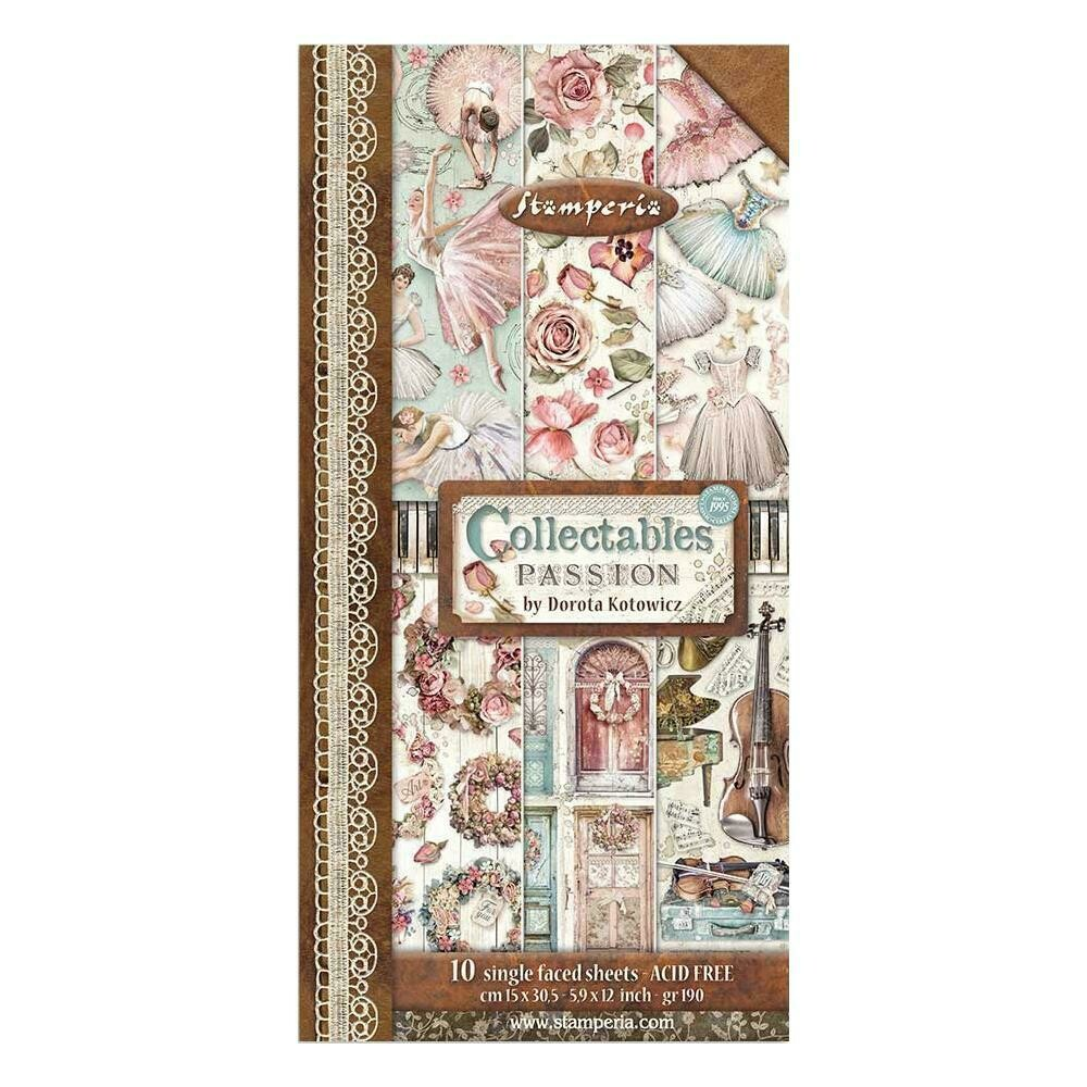 STAMPERIA PASSION 12X6 Collectables Paper Set