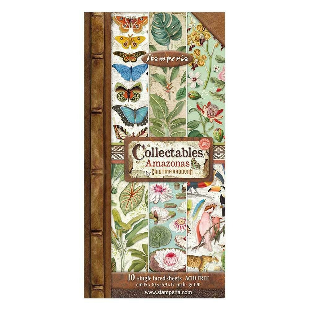 STAMPERIA AMAZONIA 12X6 Collectables Paper Set