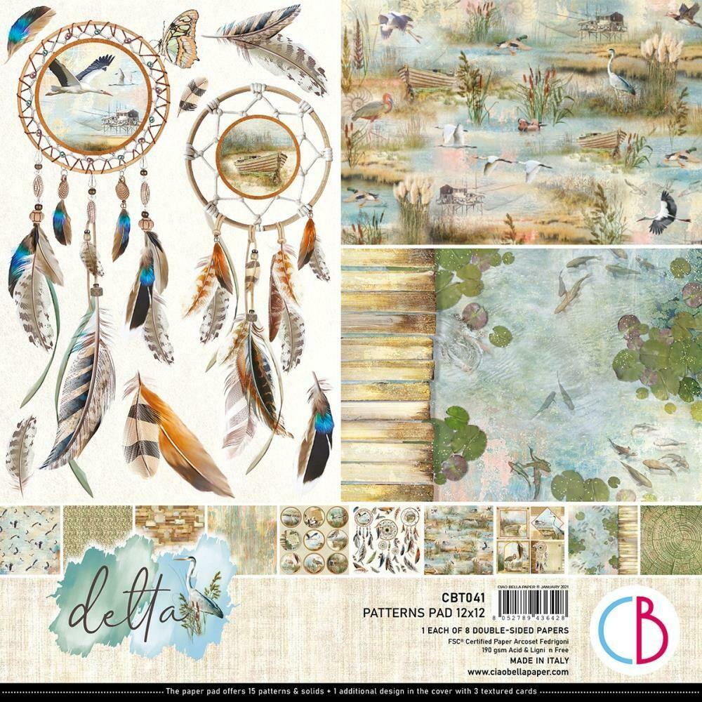 Ciao Bella DELTA 12X12 Patterns Paper Pad