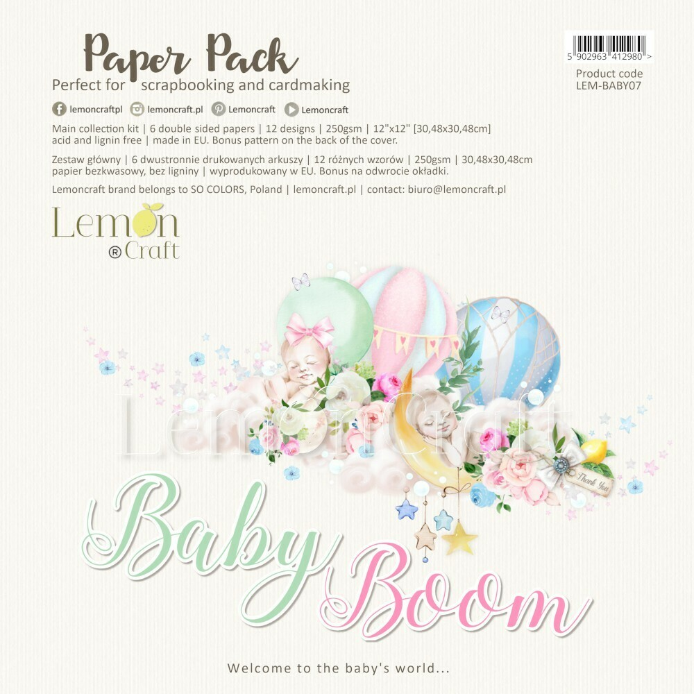 Baby Boom 12x12 Paper Collection