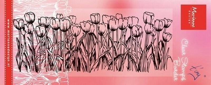 Marianne Design - Tiny's Tulips Border Stamp