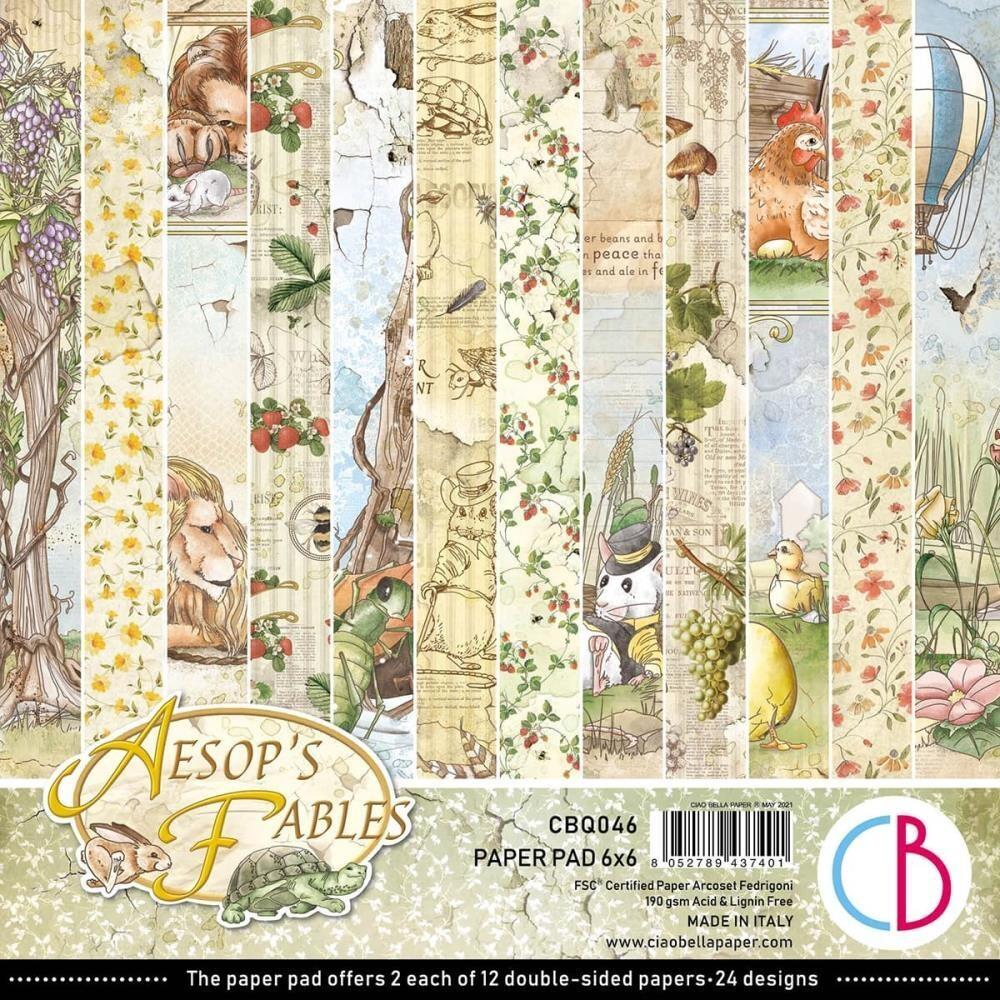 Ciao Bella AESOP'S FABLES 6x6 Paper Pad