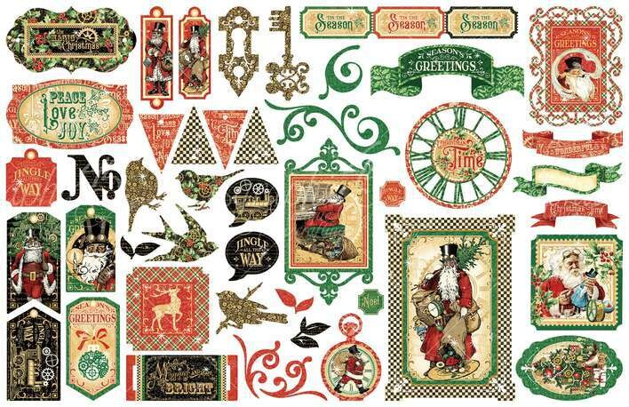 GRAPHIC 45 Christmas Time Die Cut Collection
