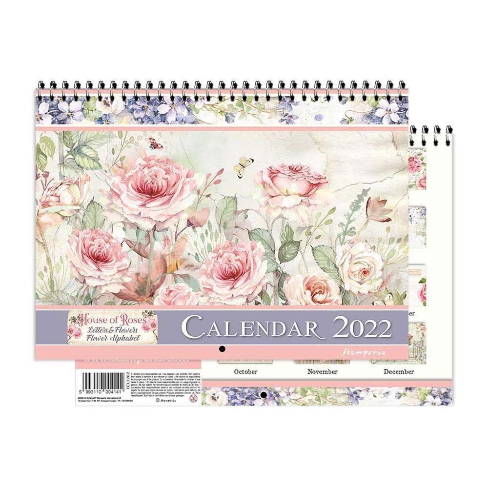 HOUSE OF ROSES - 2022 Wirebound Calendar