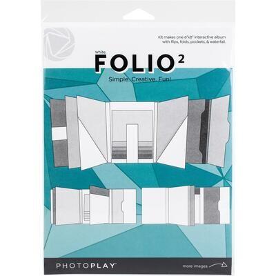 """PHOTOPLAY FOLIO 2 6""""x 8"""" White"""