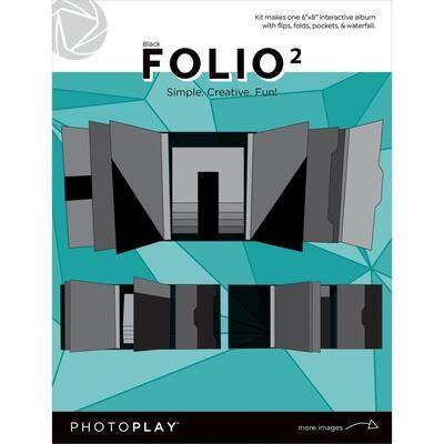 "PHOTOPLAY FOLIO 3 6""x 8"" Black"