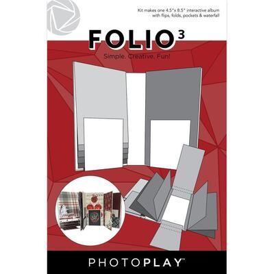 """PHOTOPLAY FOLIO 3 4.5""""x 8.5"""" White"""