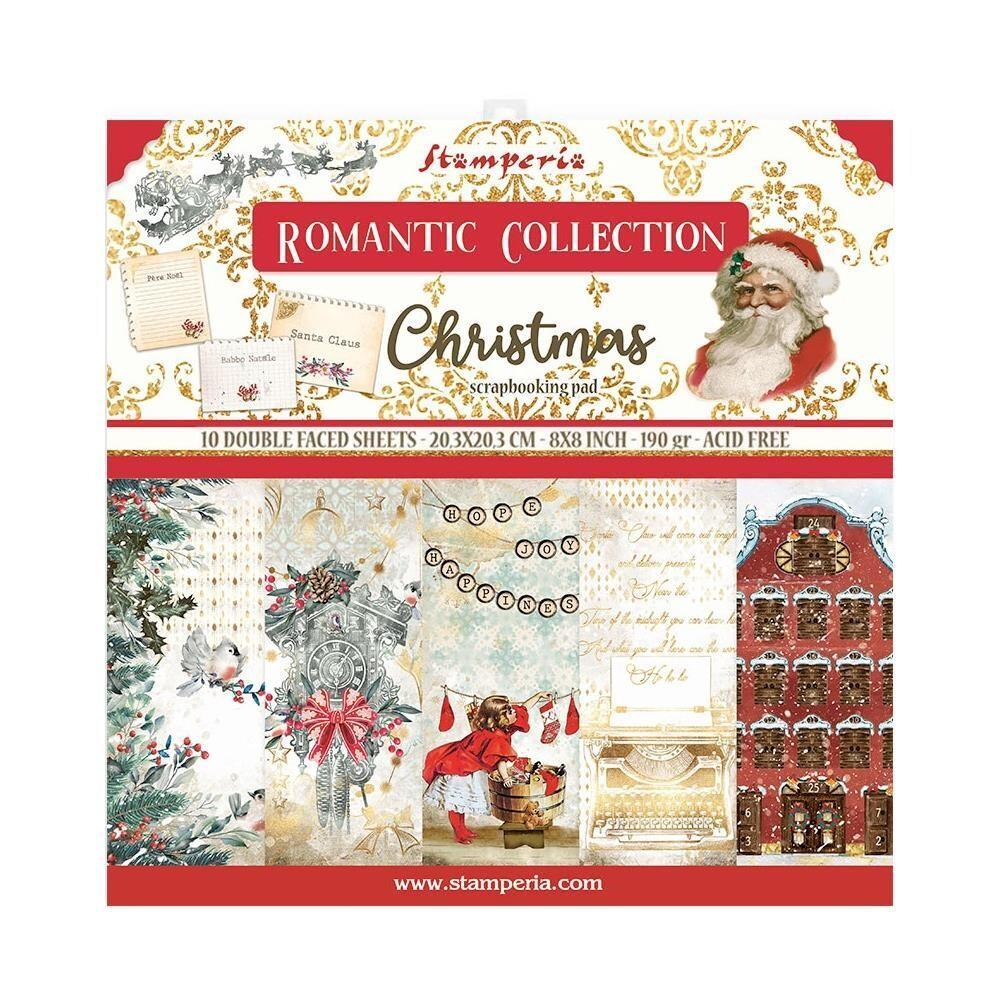 STAMPERIA ROMANTIC CHRISTMAS 8X8 Pad
