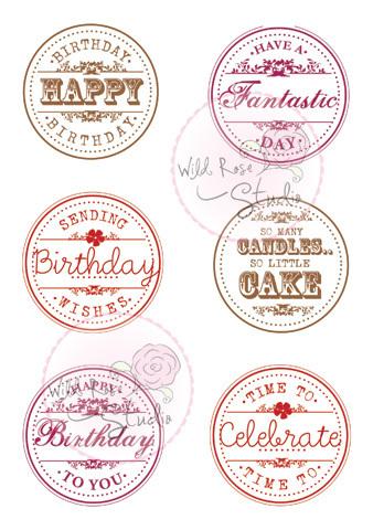 Birthday Circles Clear Stamp Set