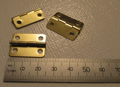 Brass Hinges x 2
