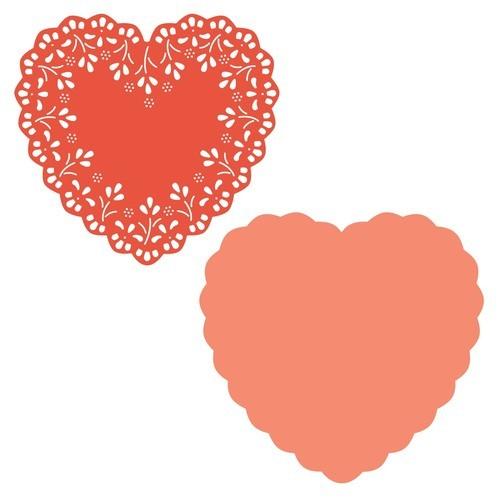 Heart Doily die