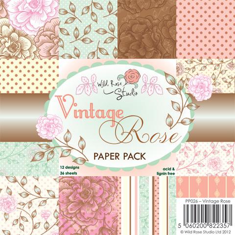 Wild Rose Studio VINTAGE ROSE 6 x 6 Paper Pack
