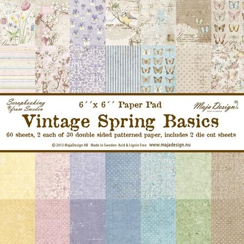 Vintage Spring Basics 6x6 Paper Pad