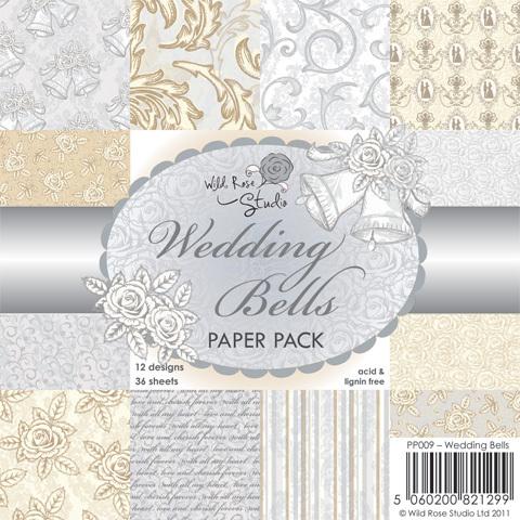 Wild Rose Studio WEDDING BELLS 6 x 6 Paper Pack