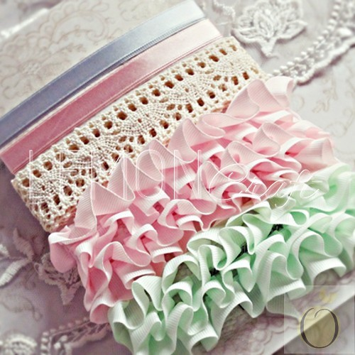 Heart Painted Ribbons & Lace